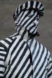 Porträt eines Straßenkünstlers stockfotos