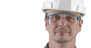 Porträt eines Technikers getrennt Lizenzfreies Stockbild