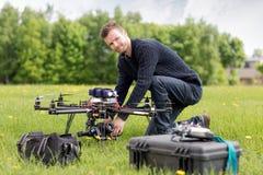 Porträt eines UAV-Luftbildfotografies Stockfoto