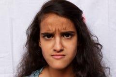 Porträt eines verärgerten Mädchenkindes Lizenzfreie Stockfotografie