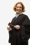 Porträt eines weiblichen Richters stockbilder