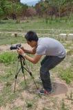 Porträt-Fotograf bei Stonehenge von CHAIYAPHUM Thailand Lizenzfreie Stockfotografie