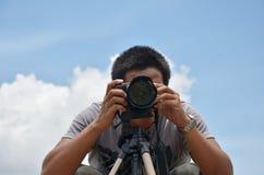 Porträt-Fotograf bei Stonehenge von CHAIYAPHUM Thailand Lizenzfreies Stockbild