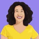 Porträt glücklicher Dame Vector Stockbilder