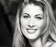 Porträt, Headshot, Gesicht junge, sexy Schönheit langen blo Stockbild
