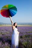 Porträt im Lavendel Lizenzfreie Stockbilder