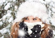 Porträt im Schneewetter Lizenzfreie Stockfotos