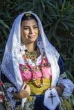 Porträt im traditionellen sardinischen Kostüm Stockfoto