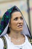 Porträt im traditionellen sardinischen Kostüm Stockbild