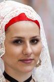 Porträt im traditionellen sardinischen Kostüm Lizenzfreie Stockfotografie