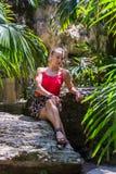 Porträt jungen Blondine Lizenzfreie Stockfotos