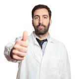 Porträt jungen europäischen Doktors lokalisiert Lizenzfreie Stockfotografie