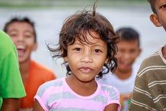 Porträt kleines Mädchen Aeta-Stammes nahen Bergs Pinatubo am 27. August Lizenzfreie Stockfotografie