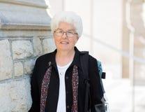 Porträt lächelnden Professors Student stockbilder