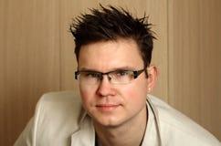 Porträt, Manager, Gläser Stockfotografie