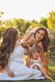 Porträt mit drei Schwestern Lizenzfreie Stockfotografie