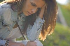 Porträt mit schönem Mädchen Stockfotos