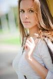 Porträt mit schönem Mädchen Lizenzfreies Stockbild