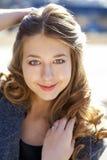 Porträt nah oben vom jungen schönen Mädchen Lizenzfreie Stockfotos