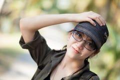 Nette Thailand-Frau des Porträts. Lizenzfreies Stockbild