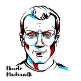 Porträt Niccoo Machiavelli vektor abbildung