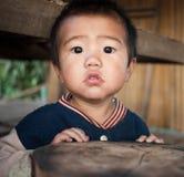 Porträt nicht identifizierten kleinen Karen-Jungen Lizenzfreie Stockfotos