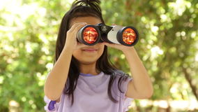 Porträt schön vom glücklichen langen Asiaten des Haarkinderkleinen Mädchens stock video footage