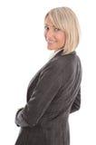 Porträt: Schöne Mitte gealterte lokalisierte Geschäftsfrau Lizenzfreie Stockfotos