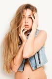 Porträt schöner Yong-Frau lizenzfreies stockfoto