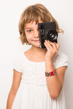 Porträt am Studio eines lächelnden Kindes jpg Lizenzfreies Stockfoto