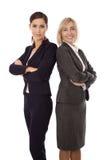 Porträt: Team von zwei lokalisierte das Lächeln und erfolgreiches businesswo stockbilder
