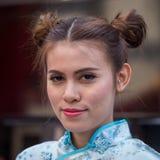 Porträt-thailändisches Mädchen Bangkok, Thailand Stockfotografie