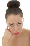Porträt trauriger unglücklicher deprimierter junger Caucasain Frau P A sehr Stockbild