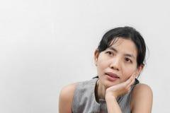 Porträt-unglückliche Frauen Stockbilder