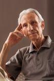 Porträt von älteren älteren Männern Stockfotos