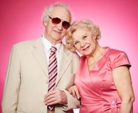 Porträt von älteren Paaren Stockfoto
