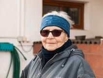 Porträt von achtzig Jahren alten Frau Lizenzfreie Stockfotos