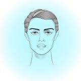 Porträt von Androgyne Lizenzfreie Stockbilder