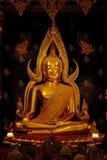 Porträt von Buddha Chinnaraj, Wat Phra Sri Ratanamahatat, Phitsanilok Lizenzfreies Stockfoto