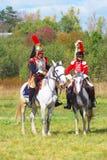 Porträt von Cuirassiers vom 5. Cuirassier-Regiment Stockbild