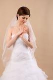 Porträt von Dame mit weißem Schleier Stockfotografie