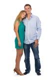 Porträt von den glücklichen schönen Paaren in voller Länge Lizenzfreie Stockbilder