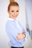 Porträt von einem recht blonden Lizenzfreies Stockfoto