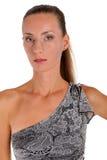 Porträt von einem schönen braunhaarigen Lizenzfreies Stockbild
