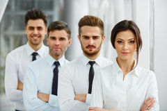 Porträt von erfolgreichen Geschäftsleuten Team- Lizenzfreies Stockfoto