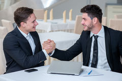 Porträt von erfolgreichen und motivierten Geschäftsmännern Lizenzfreie Stockbilder