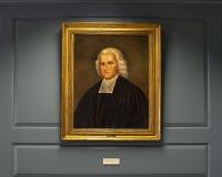 Porträt von Francis Alison durch unbekannten Künstler in der presbyterianischen historischen Gesellschaft Lizenzfreie Stockfotos