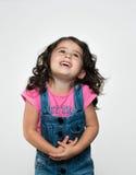 Porträt von glücklichem, positiv, lächelnd, Mädchen Stockfoto