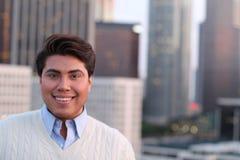 Porträt von homosexuellen männlichen draußen lächeln Stockbilder
