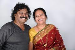 Porträt von indischen Paaren Stockbilder